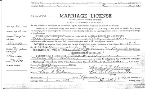 Are Marriage Licenses Record In Florida Naples Florida Marriage License Records Free Blogsclip