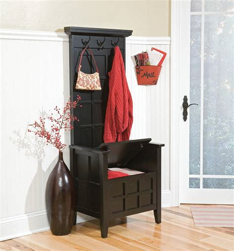 mini hall tree with storage bench home styles mini hall tree and storage bench black 88