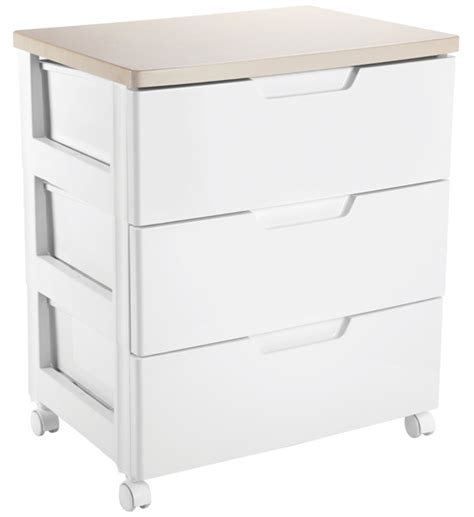 iris top three drawer storage chest white in
