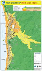 oregon tsunami evacuation maps tsunami evacuation map cannon oregon by the