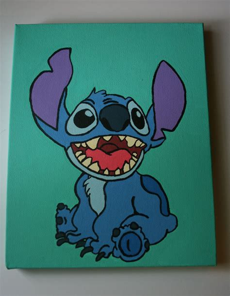 stitches painting disney s stitch canvas painting want easy canvas