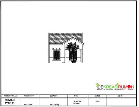 desain gambar kerja rumah type  pengembangan ide kreasi rumah