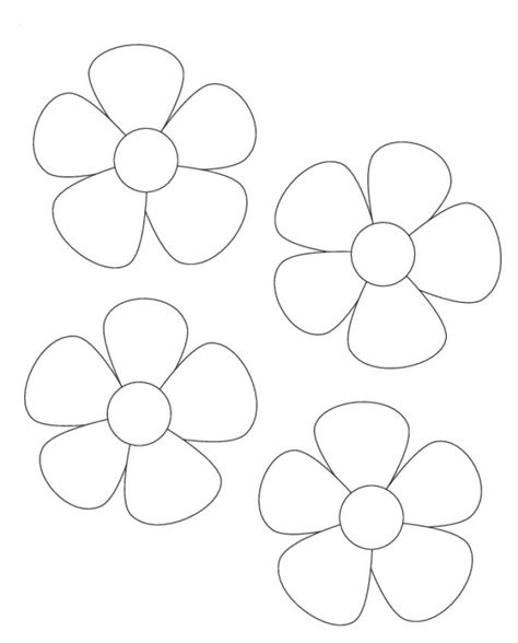 printable flower templates coloring home printable flower templates coloring home