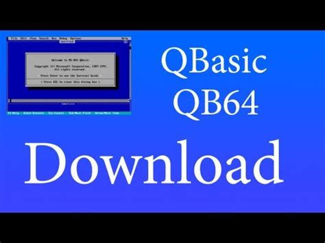 qbasic full version free download full download how to install qbasic on windows 7 and 8