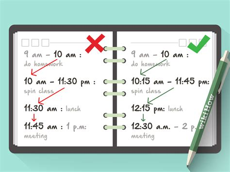 schedule  pictures wikihow