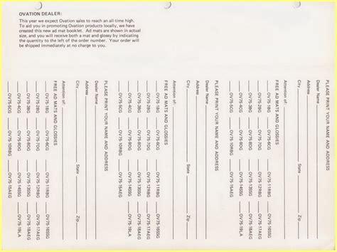Mat Programs by 70 S Ovation Ad Mat Program
