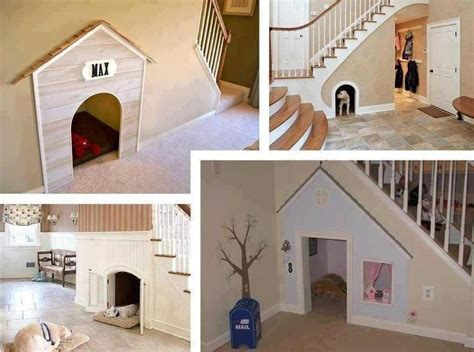 dog space in house using space under stairs dog bed interiors