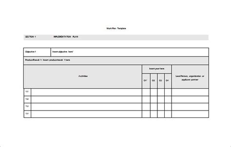 Work Plan Template 15 Free Word Pdf Documents Download Free Premium Templates Work Plan Template Word