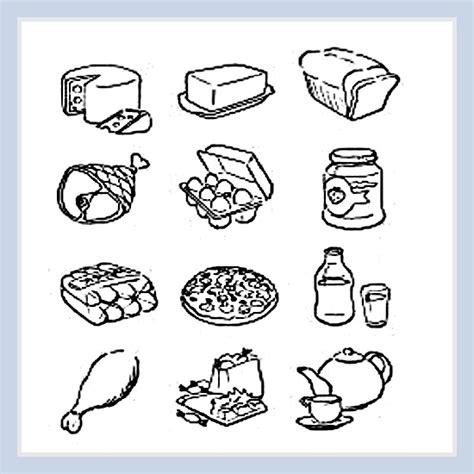 dibujo alimentos dibujos de alimentos saludables para imprimir y colorear