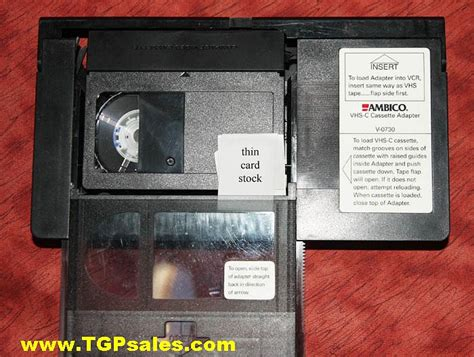 cassette vhs c vhs c adapter fix tgp sales a subsidiary of tgrant photo