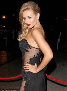 Coronation street s catherine tyldesley dons daring cutout gown at