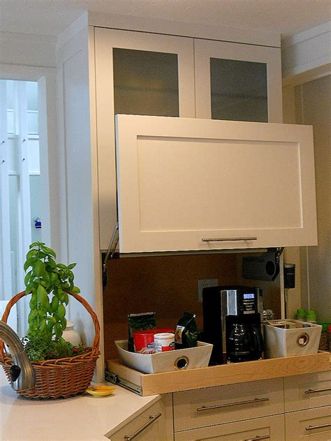 kitchen cabinet garage door keep it out of sight in an appliance garage artful kitchens