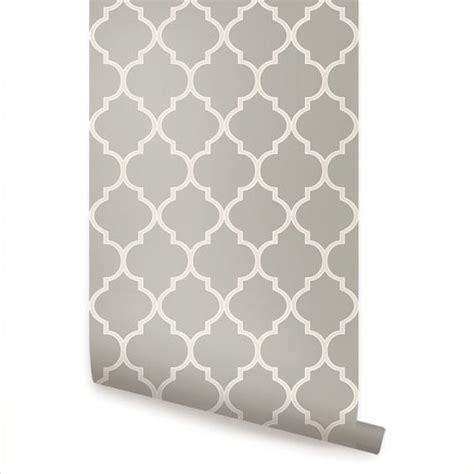 temporary fabric wallpaper st patrick s day sale moroccan warm grey peel stick