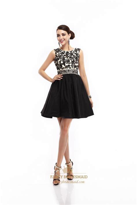 beaded waistband black sleeveless lace bodice open back prom dress with