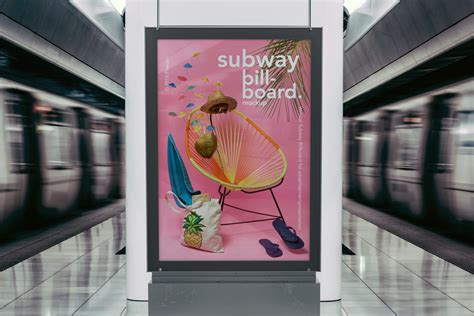 Psd Poster Billboard Mockup Psd Mock Up Templates Pixeden Subway Poster Template
