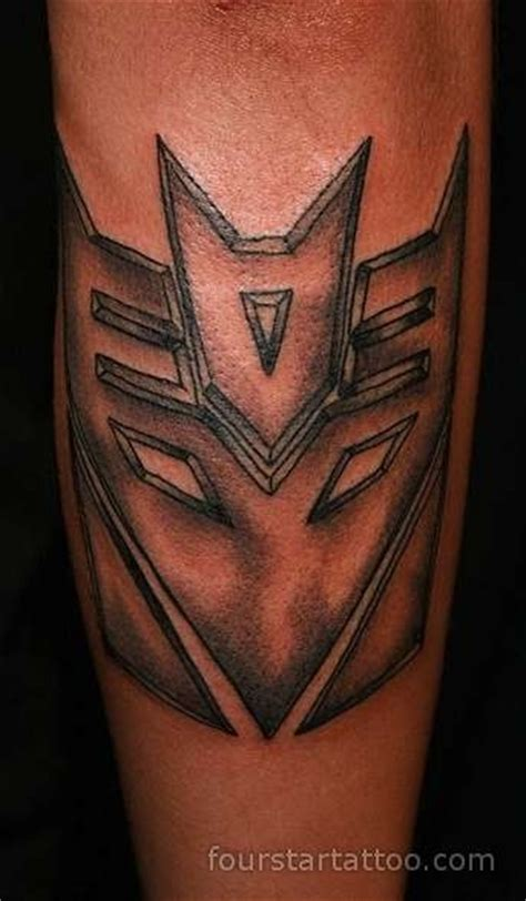 decepticon tattoo tattoos and on