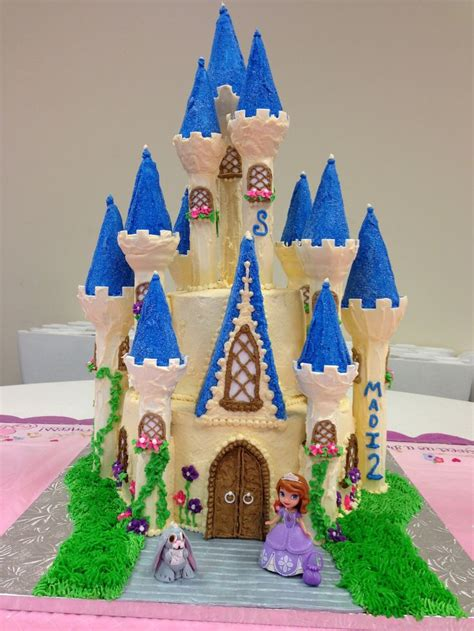 Princess Sofia Castle Cake princess sofia cake using wilton castle kit future birthday ideas the o