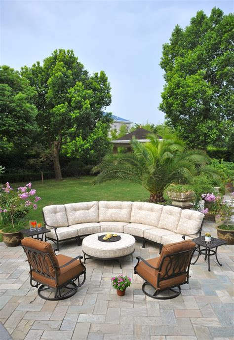 Hoigaards Patio Furniture Hanamint S Mayfair Sectional Aluminum Patio Furniture Pinterest Patios Showroom And House