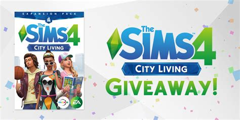 Sims 4 City Living Giveaway - win the sims 4 city living sims online