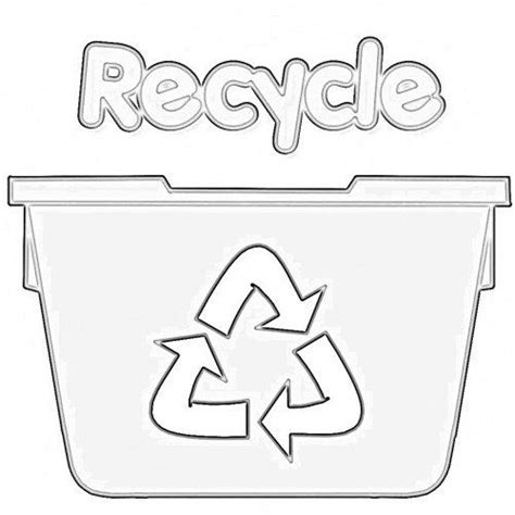 recycle coloring pages preschool recycling worksheets for kids earth day love pinterest