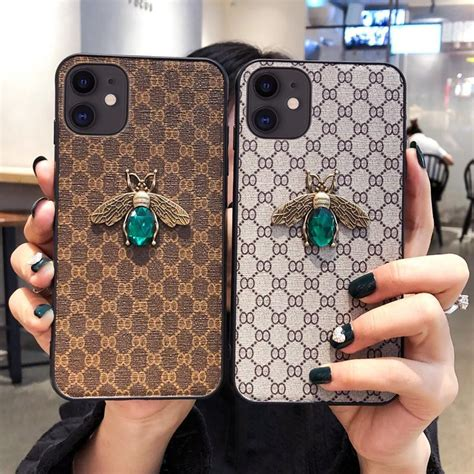 gucci style luxury leather shockproof protective designer iphone case  iphone  pro max  xs