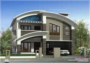 modern villa plans 2568 square feet modern villa exterior home kerala plans