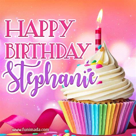 happy birthday stephanie lovely animated gif   funimadacom