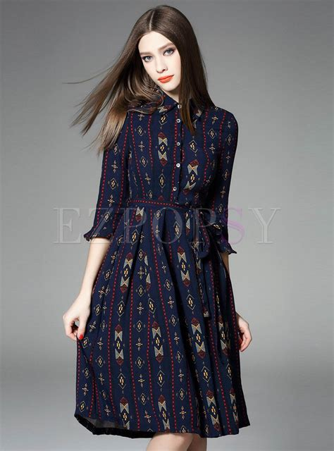 Sleeve Print Midi Dress three quarter sleeve print midi dress ezpopsy