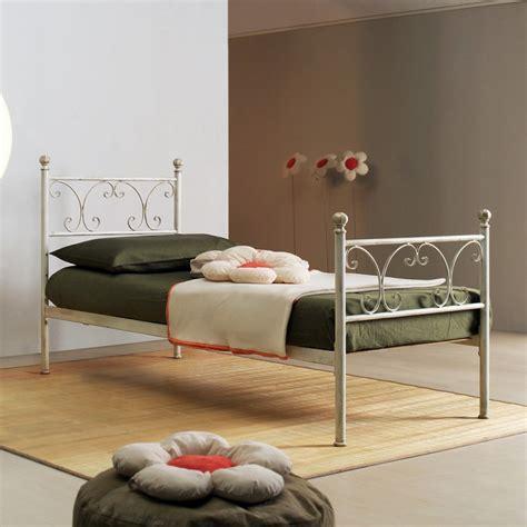 letto singolo in ferro letto singolo in ferro battuto bianco vienna s arredas 236