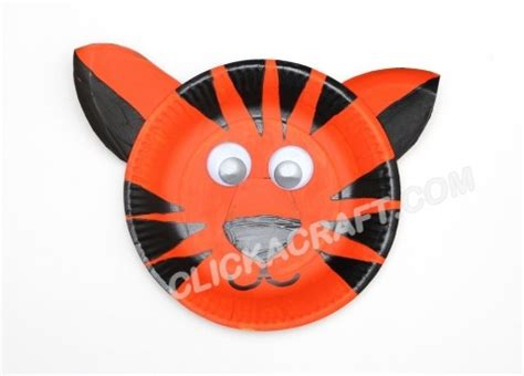 tiger paper plate craft paper plate tiger click on image to see step by step