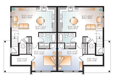 Duplex House Plans Canada Contemporary 3 Level Duplex Plan 22375dr 1st Floor