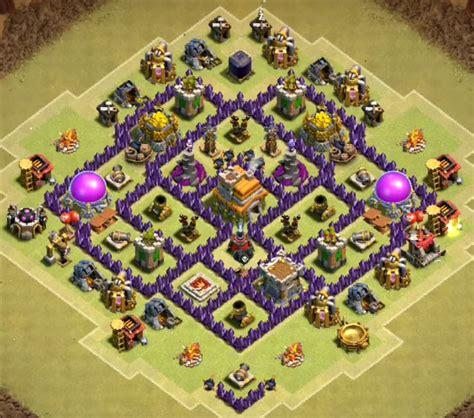 layout coc th7 anti naga war base layout town hall level 7
