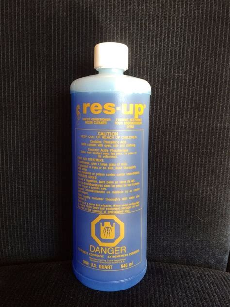 water softener resin res up water softener resin cleaning solution resin