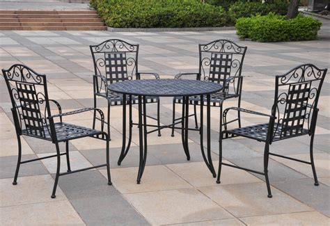 Five Piece Wrought Iron Patio Set Patio Table Wrought Iron Patio Table Set
