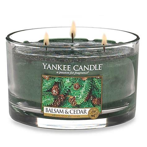 bed bath and beyond yankee candle yankee candle 174 housewarmer 174 balsam and cedar 3 wick