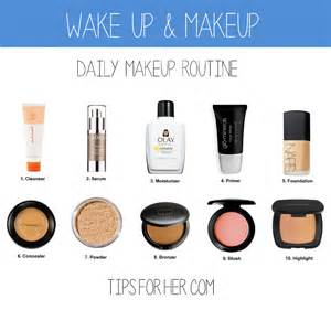 Simple daily makeup routine showing what to apply first and only takes