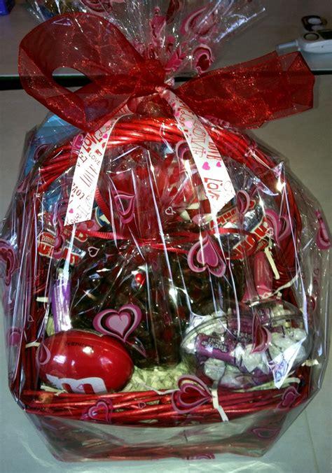 valentines basket for him snack basket for him put together all his