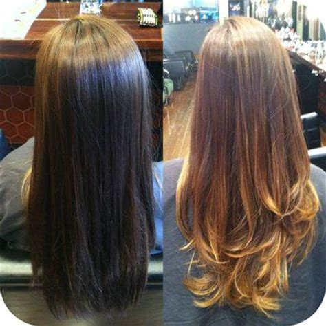 should wash hair before bayalage before and after balayage ombr 233 and haircut done by