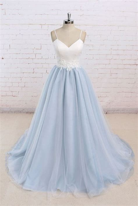 cheap prom dresses  sweetheartdress baby blue tulle