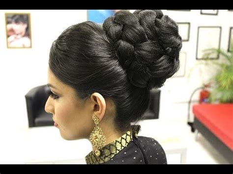 the doughnut updo asian bridal hairstyles pakistani indian wedding hair