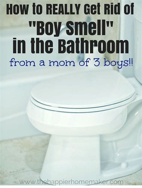 how to really get rid of boy smell in the bathroom from a
