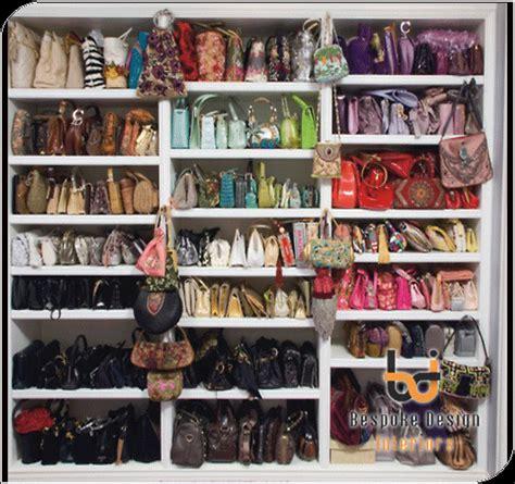 Artsy Bedroom purse storage ideas handbag cabinets built in handbag