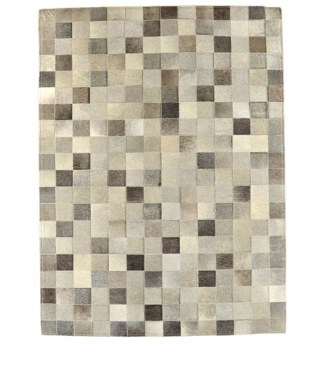 kuhfell teppich kuhfell teppich mix grau patchwork 200 x 140 cm kuhfelle