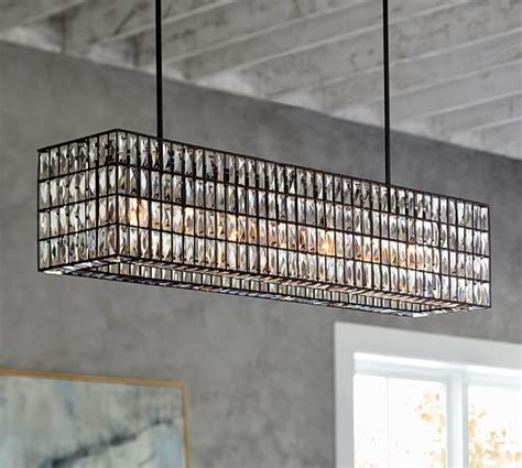 Pottery Barn Dining Room Lighting Adeline Rectangular Chandelier Pottery Barn