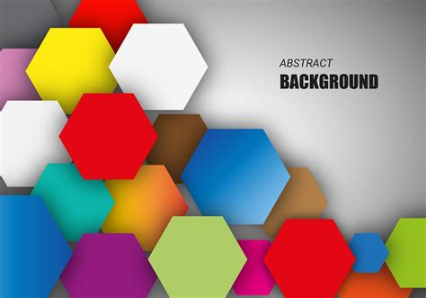 colorful hexagonal background vector