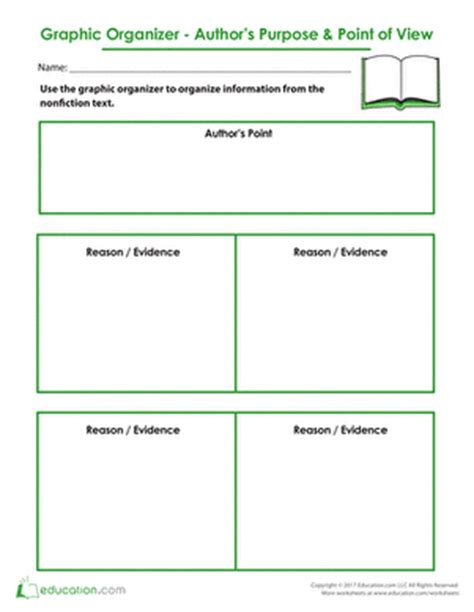 printable graphic organizer for author s purpose all worksheets 187 authors point of view worksheets