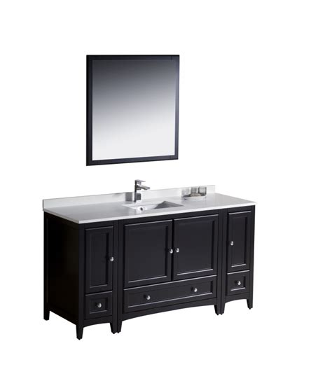 Bathroom Vanities 60 Single Sink 60 Inch Single Sink Bathroom Vanity In Espresso Uvfvn20123612es60
