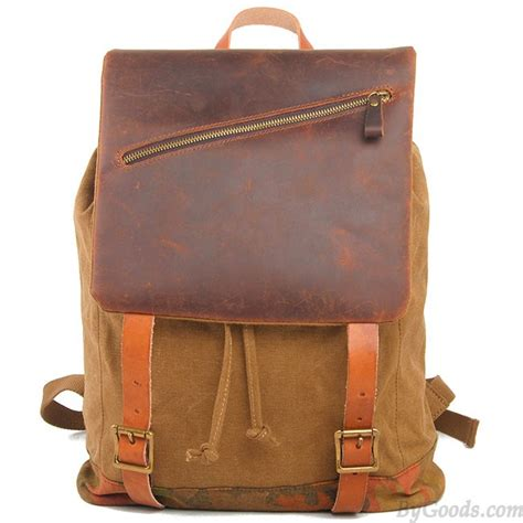 Fashionable Leather Retro Splicing Black - retro large travel rucksack handmade thick real leather