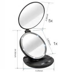Makeup Mirror With Lights Travel Size Sided 1x 5x Magnifying Travel Makeup Mirror With