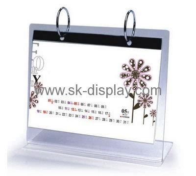 acrylic desk calendar holder fashion design acrylic plastic desk calendar holder